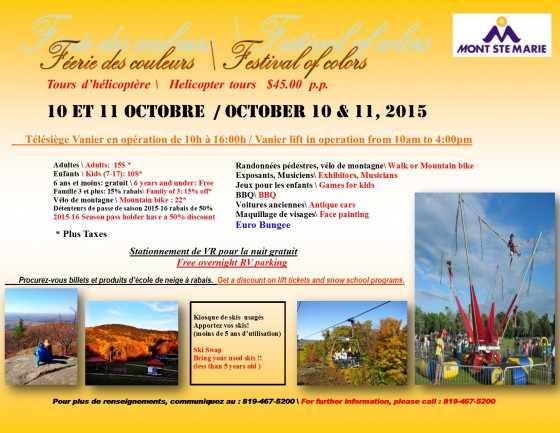 Festival of Colours – October 10 & 11, 2015
